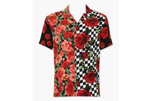 Classic Fit Rose Print Shirt