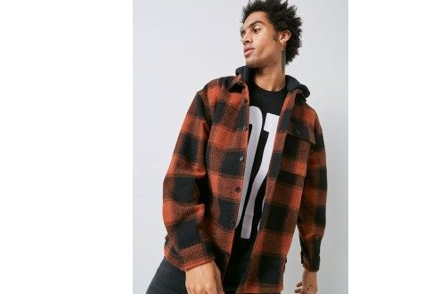 Plaid Hooded Jacket