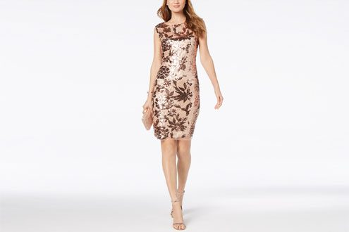 Vince Camuto Floral Sequined Dress