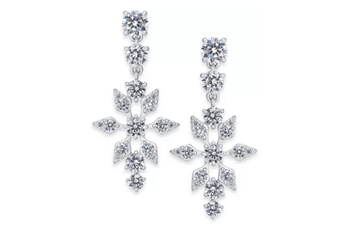 Crystal Snowflake Drop Earrings