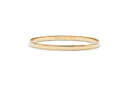 'Idiom - Heart Of Gold' Bangle by Kate Spade