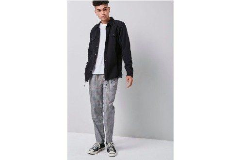 Glen Plaid Drawstring Pants
