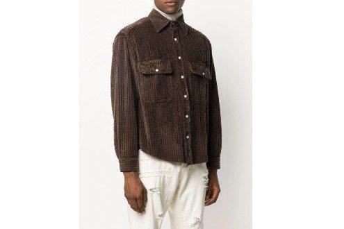Finamore 1925 Napoli corduroy long-sleeved shirt