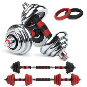 LEADNOVO Adjustable Weights Dumbbells Barbell Set