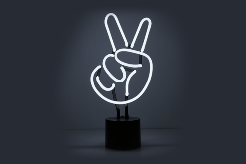 Peace Sign Lamp