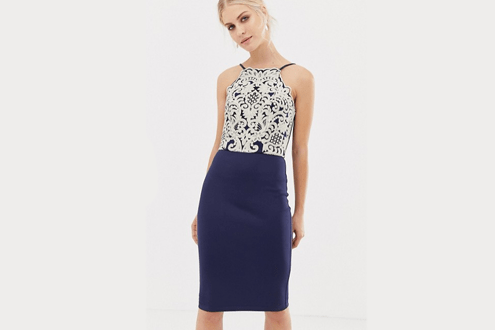 Chi Chi London Midi Pencil Dress