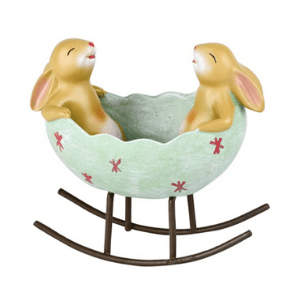 Bunnies in a egg cradle