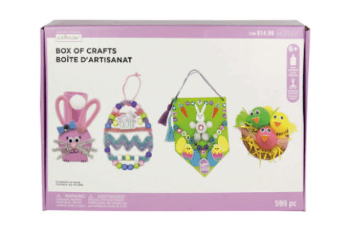 Box of easter crafts kit by creatology
