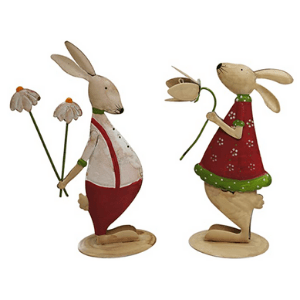 Easter bunny decoration indoor for home and table
