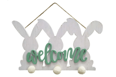 Welcome bunny wall sign by Ashland