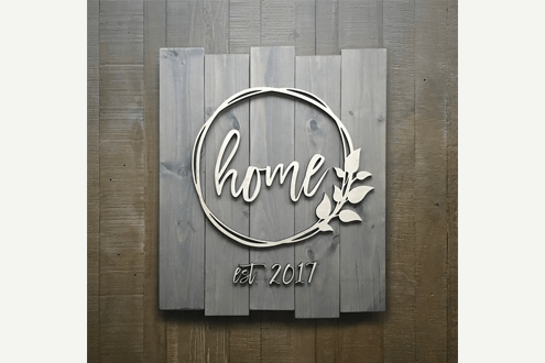 Custom Home and Date Sign