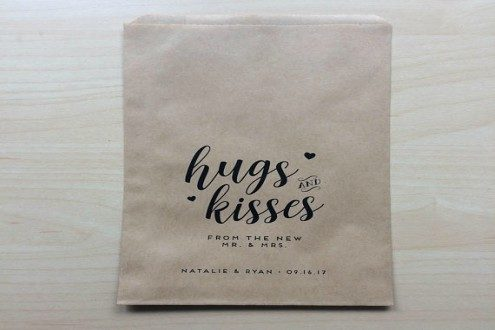 Custom Kraft wedding favour paper bags