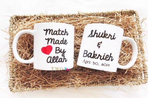 Match Made by Allah mug set -bridal shower gift