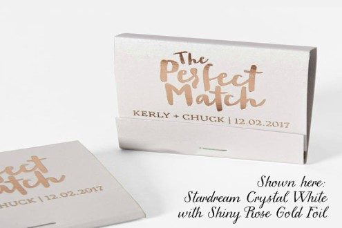 Personalized the Perfect Match matchbooks