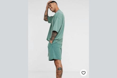 ASOS DESIGN lounge tshirt & short pyjama set