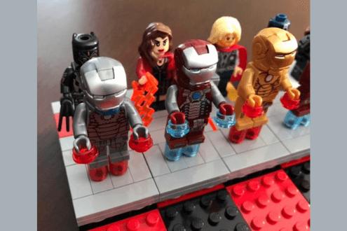 Justice League vs. Avengers Lego chess set