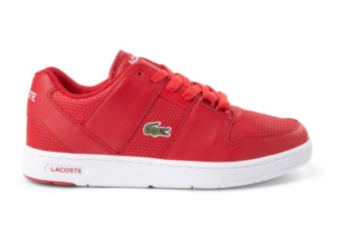 Lacoste thrill athletic shoe - red