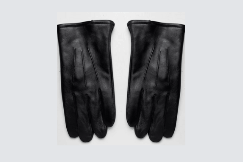 leather touchscreen gloves in black