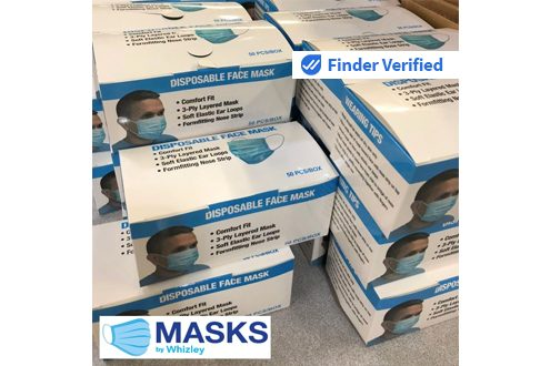 1,000 Piece Supply 3-Ply Layered Disposable Face Mask