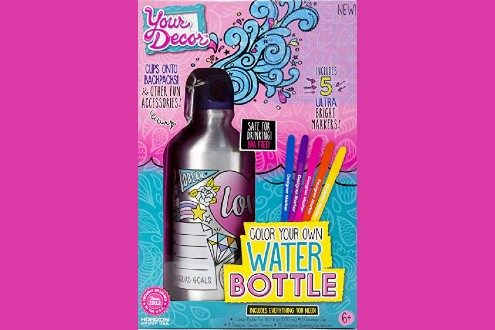 Decor your own bottle water